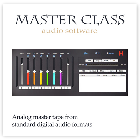Master Class software - The sound of analog master tapes from PCM digital recordings.