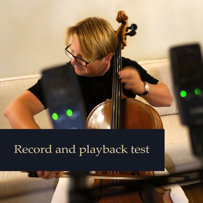 Record and playback test - Michal Lech - cello
